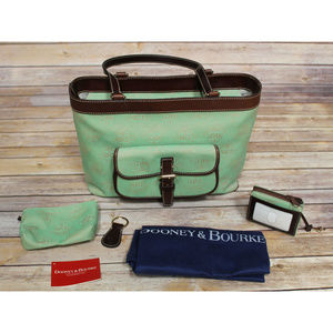 DOONEY & BOURKE Green East West Shoulder Bag Tote